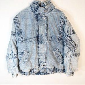 Sergio Valente VTG XL 80s Acid Wash Jean Jacket